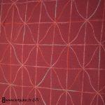 Haori rose avec motif géométrique kitsuke