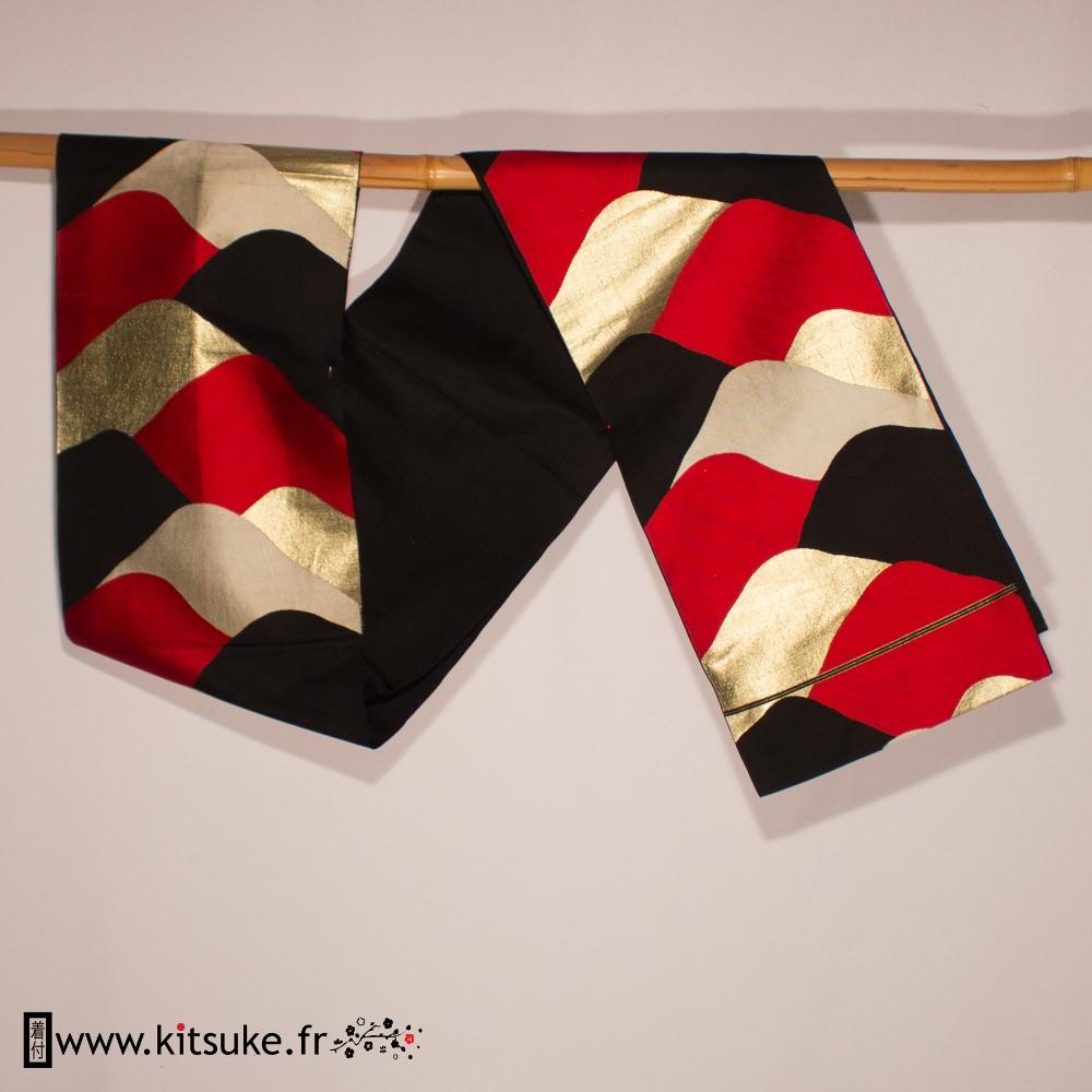Fukuro obi ceinture large japonaise traditionnelle kitsuke.fr