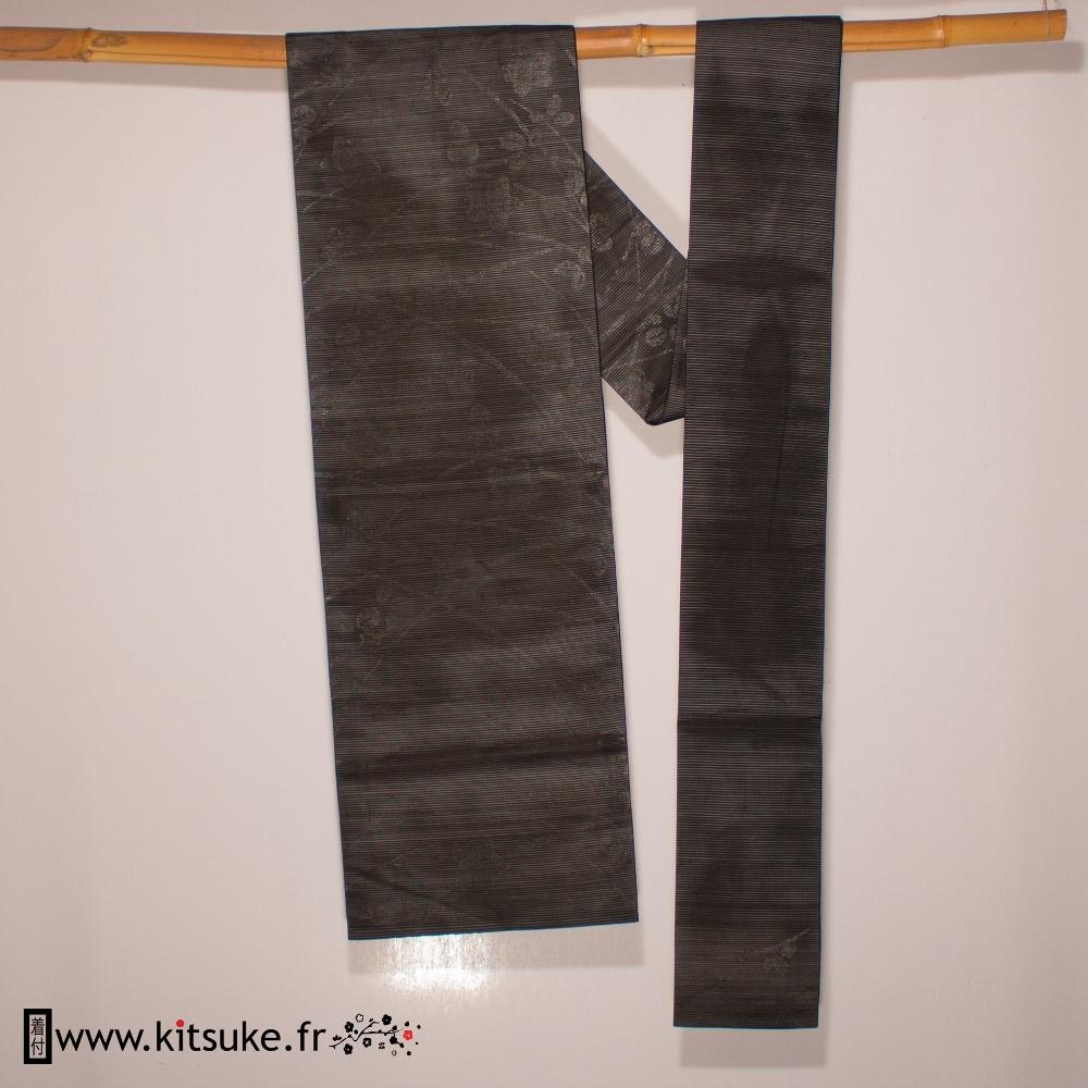 Nagoya obi noir kitsuke