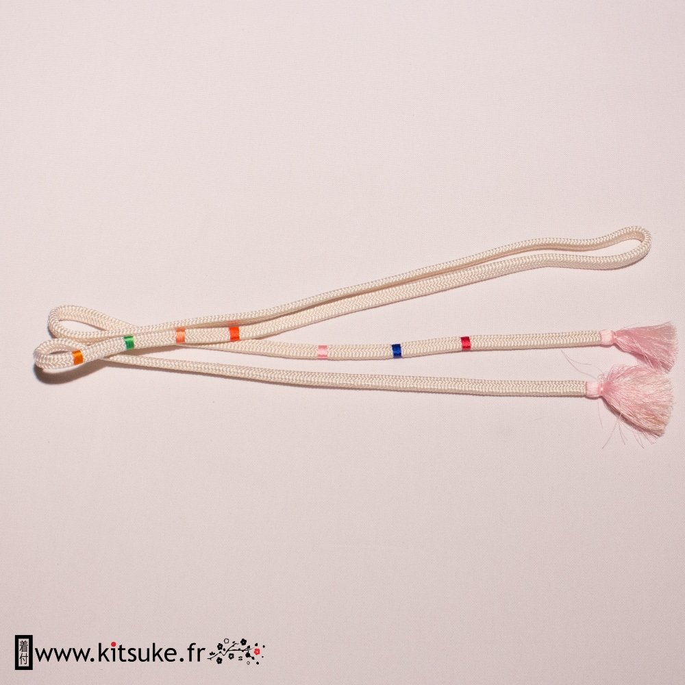 obijime-round-white-cord-with-pink-tip-and-multicolor-towers kitsuke
